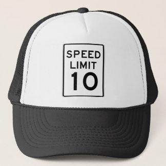 Speed Limit 10 Street Sign Trucker Hat