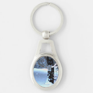 Speed Limit 15.jpg Silver-Colored Oval Metal Keychain