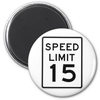 Speed Limit 15 Street Sign Magnets