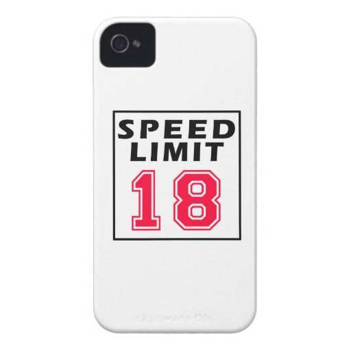 Speed limit 18 birthday designs Case-Mate iPhone 4 cases