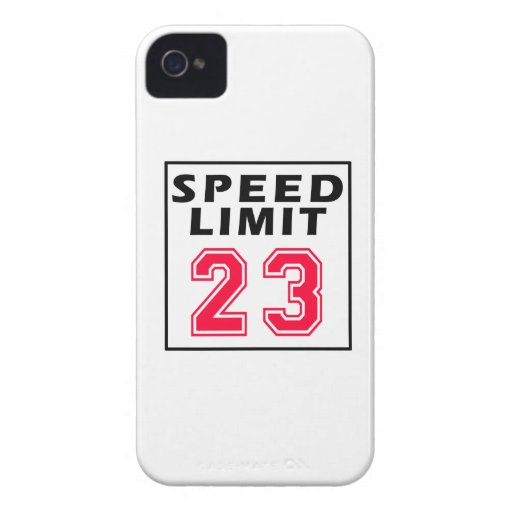 Speed limit 23 birthday designs iPhone 4 cover