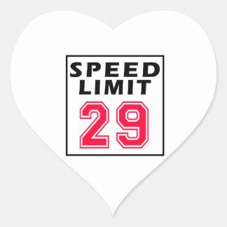 Speed limit 29 birthday designs sticker