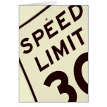 SPEED LIMIT 30 CARDS