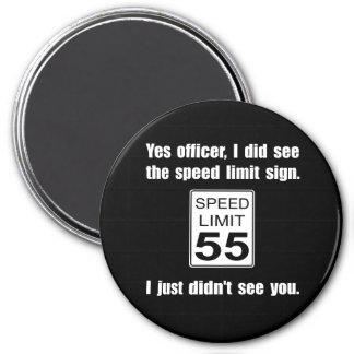 Speed Limit 3 Inch Round Magnet