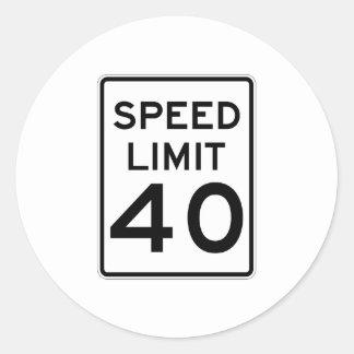 Speed Limit 40 MPH Sign Sticker