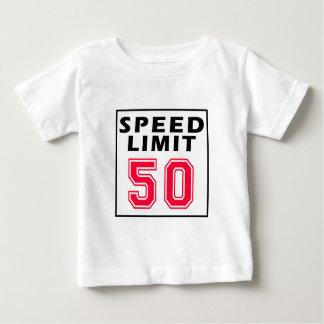 Speed limit 50 birthday designs t shirts