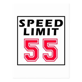 Speed limit 55 birthday designs postcard