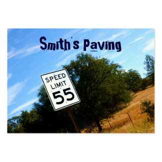 Speed Limit 55 Chubby Business Card