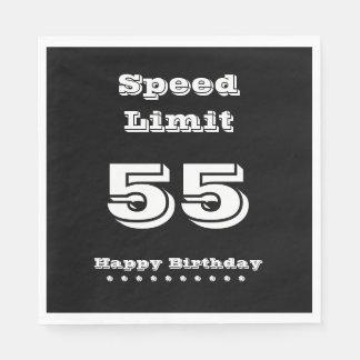 Speed Limit 55/Happy Birthday - Paper Napkin
