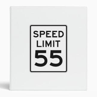 Speed Limit 55 MPH Sign 3 Ring Binder