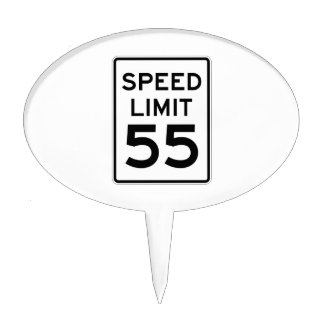 Speed Limit 55 MPH Sign Cake Topper