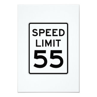 Speed Limit 55 MPH Sign Card