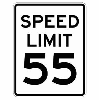 Speed Limit 55 MPH Sign Cutout