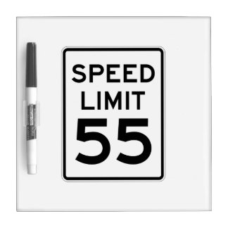 Speed Limit 55 MPH Sign Dry-Erase Board
