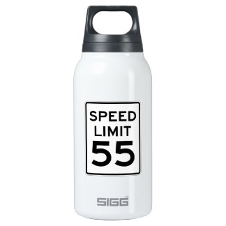 Speed Limit 55 MPH Sign Insulated Water Bottle