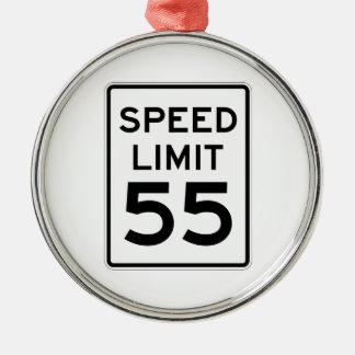 Speed Limit 55 MPH Sign Metal Ornament