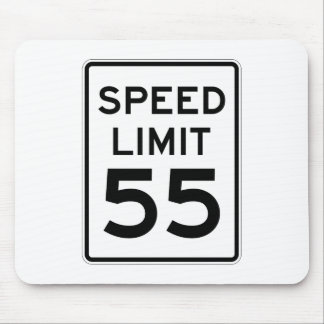 Speed Limit 55 MPH Sign Mouse Pad