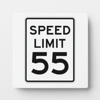 Speed Limit 55 MPH Sign Plaque