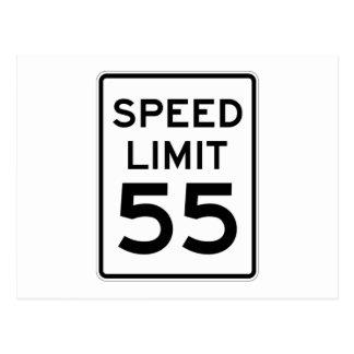 Speed Limit 55 MPH Sign Postcard