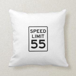 Speed Limit 55 MPH Sign Throw Pillow