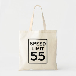 Speed Limit 55 MPH Sign Tote Bag