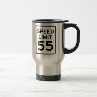 Speed Limit 55 MPH Sign Travel Mug