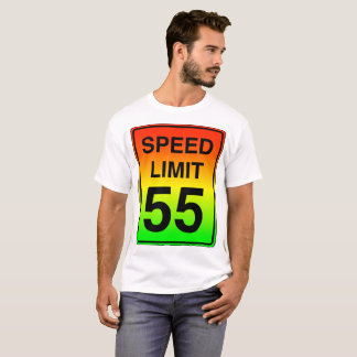 Speed Limit 55 Sign with Stoplight Colors T-Shirt