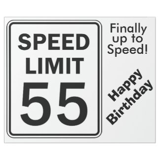 Speed Limit 55 Sign - Wrapping Paper