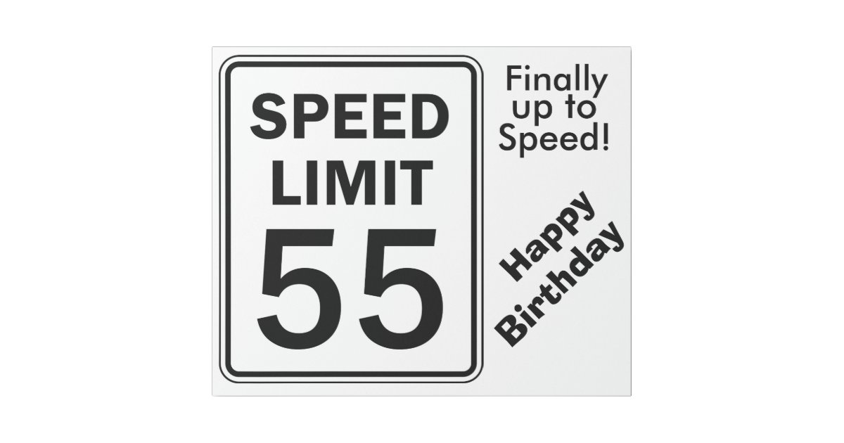 Speed Limit 55 Sign Wrapping Paper Zazzle Com