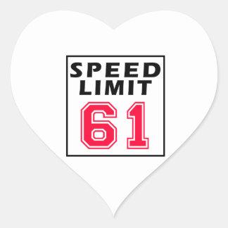 Speed limit 61 birthday designs sticker