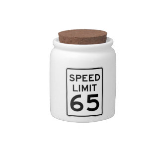 Speed Limit 65 MPH Sign Candy Dishes