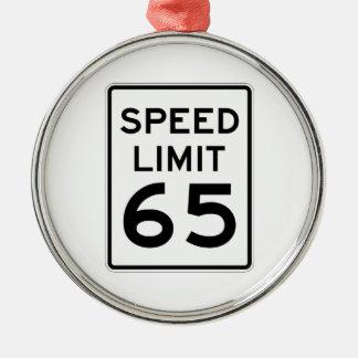 Speed Limit 65 MPH Sign Metal Ornament