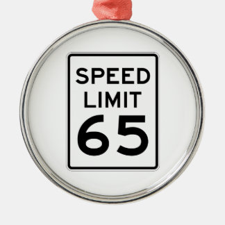 Speed Limit 65 MPH Sign Christmas Tree Ornament