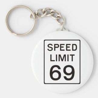 Speed Limit 69 Key Chains
