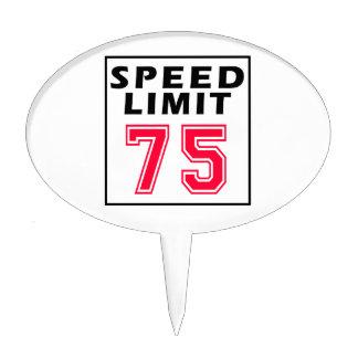 Speed limit 75 birthday designs cake pick