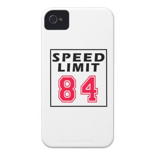 Speed limit 84 birthday designs iPhone 4 Case-Mate cases