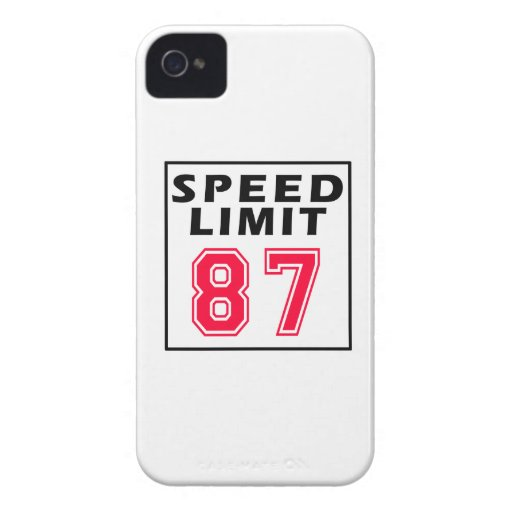 Speed limit 87 birthday designs iPhone 4 covers