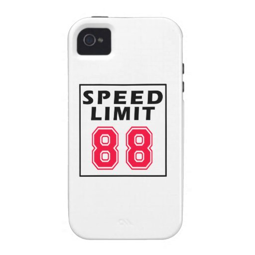 Speed limit 88 birthday designs vibe iPhone 4 cases