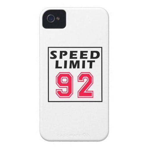 Speed limit 92 birthday designs iPhone 4 cover
