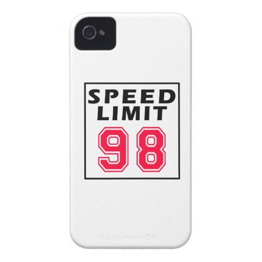 Speed limit 98 birthday designs Case-Mate iPhone 4 cases