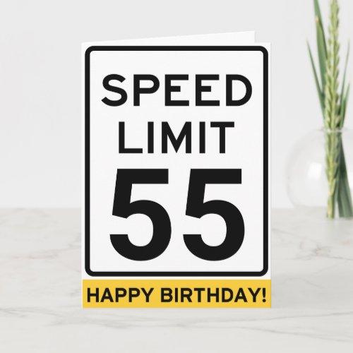 Speed Limit Birthday Card