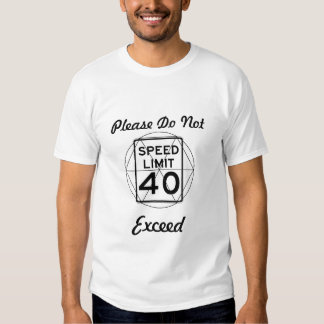 Speed Limit Design T-shirt