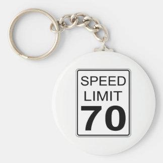 Speed Limit Keychain