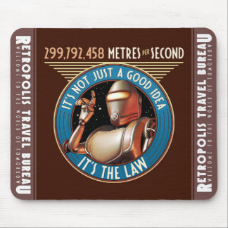Speed Limit (Metres per Second) Mouse Pad