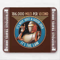Speed Limit (Miles per Second) Mouse Pad