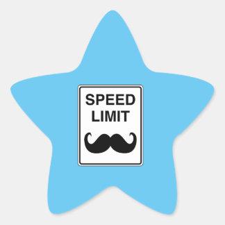 Speed Limit Mustachio Sign Star Sticker