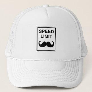 Speed Limit Mustachio Sign Trucker Hat