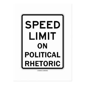 Speed Limit On Political Rhetoric Sign Postcard