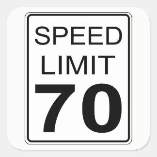 Speed Limit Square Sticker