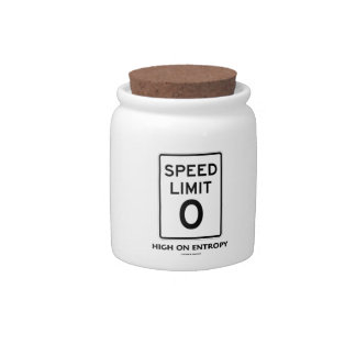 Speed Limit Zero 0 High On Entropy Sign Humor Candy Dishes